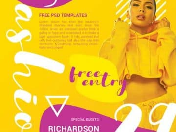 Fashion Party Event Free Flyer Template