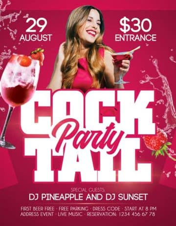 Free Cocktail Party Flyer Template