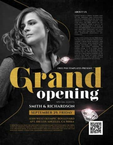 Grand Opening Event Free Party Flyer Template