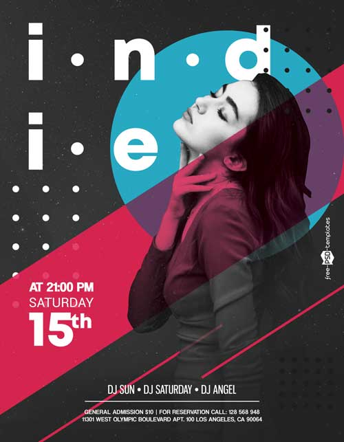 Indie Music Free Party Flyer Template