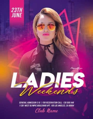Ladies Weekend Free Flyer PSD Template