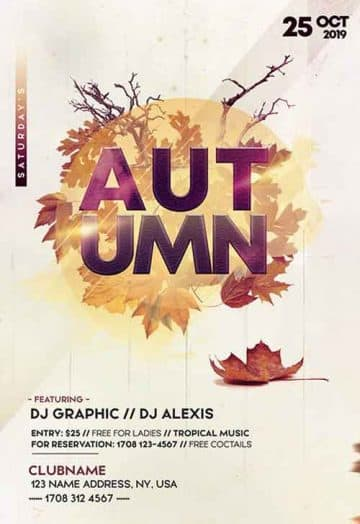 Autumn Fall Party Free Flyer Template