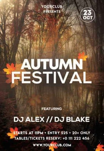 Autumn Festival Free Flyer PSD Template