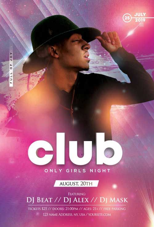 Club DJ Party Free Flyer Template