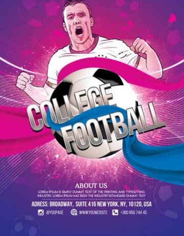 College Soccer Event Free Flyer Template