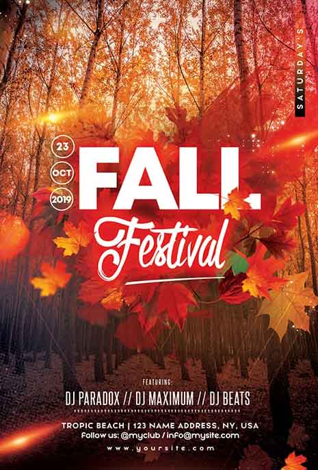 Fall Festival Party Free Flyer Template