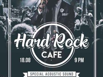 Free Hard Rock Cafe Flyer PSD Template