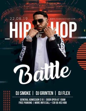 Hip Hop Battle Free Flyer PSD Template