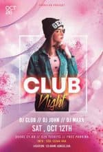 Ladies Night Club Free Flyer PSD Template