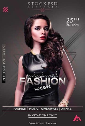 Minimal Fashion Free Flyer Template