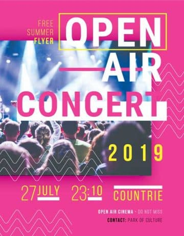 Open Air Concert Free Party Flyer Template