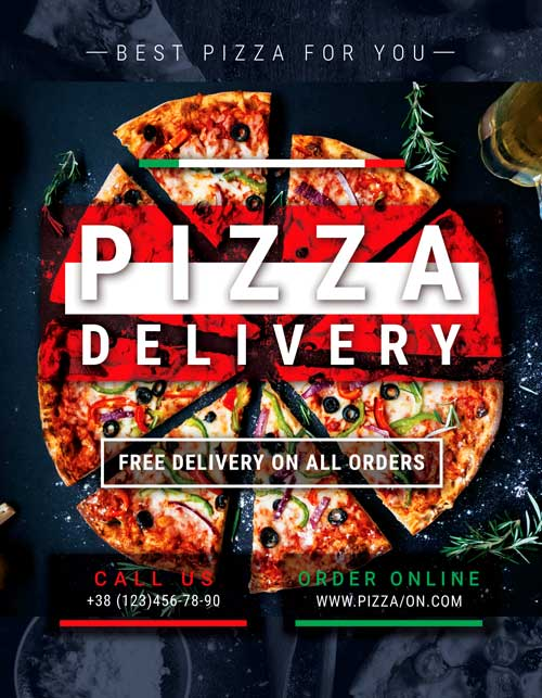 Pizza Delivery Free Flyer Template