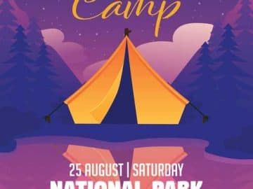 Summer Camp Vacation Free Flyer Template