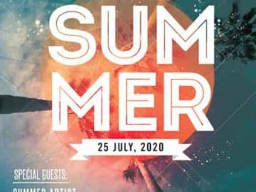 Summer Day Event Free Flyer Template