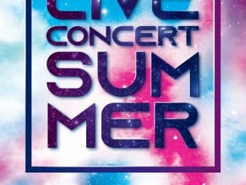 Summer Live Concert Free Flyer Template