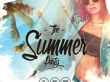 Summer Weekend Vibes Free Flyer PSD Template