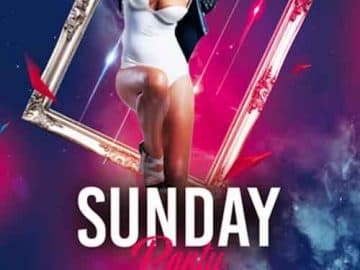 Sunday Party Free Flyer PSD Template