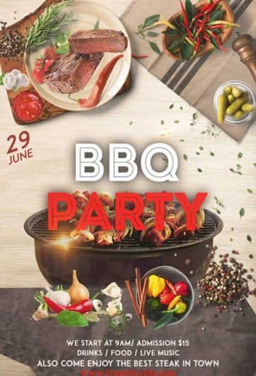 BBQ Night Free Flyer PSD Template