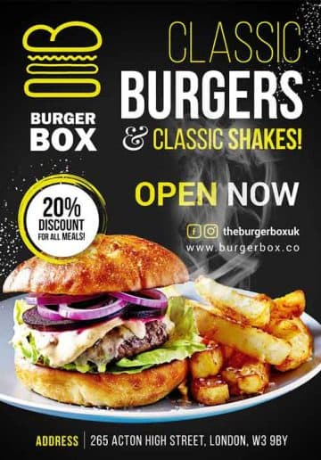 Classic Burger Free Flyer Template