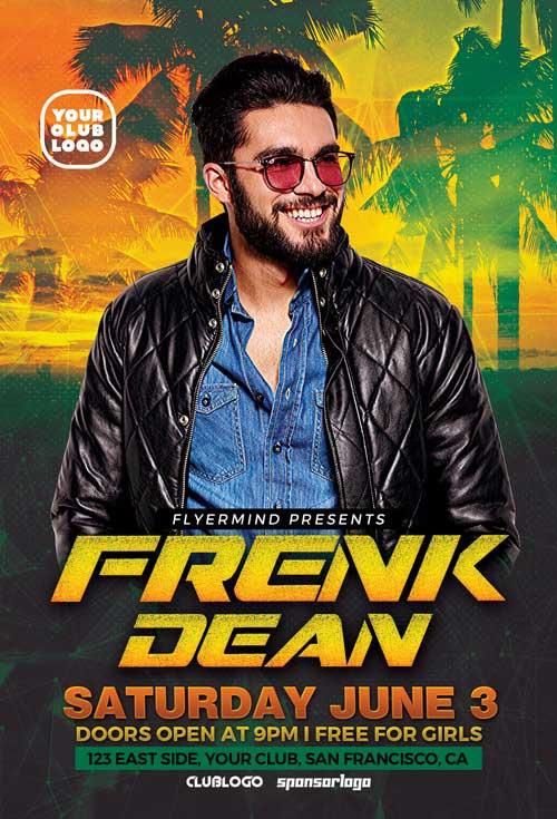 DJ Frank Free Flyer Template