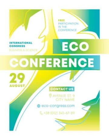 Eco Conference Free Business Flyer Template