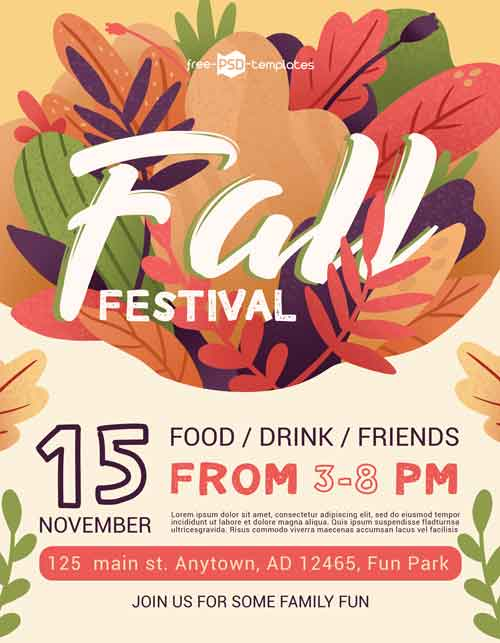 Fall Festival Free Event Flyer Template
