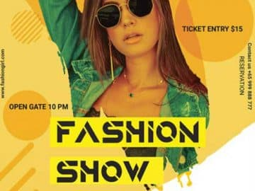 Fashion Show Free Flyer PSD Template