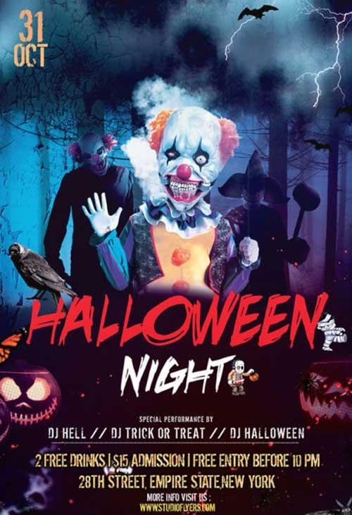 Halloween Nightmare Party Free Flyer Template
