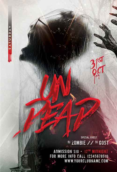 Happy Halloween Party Free PSD Flyer Template