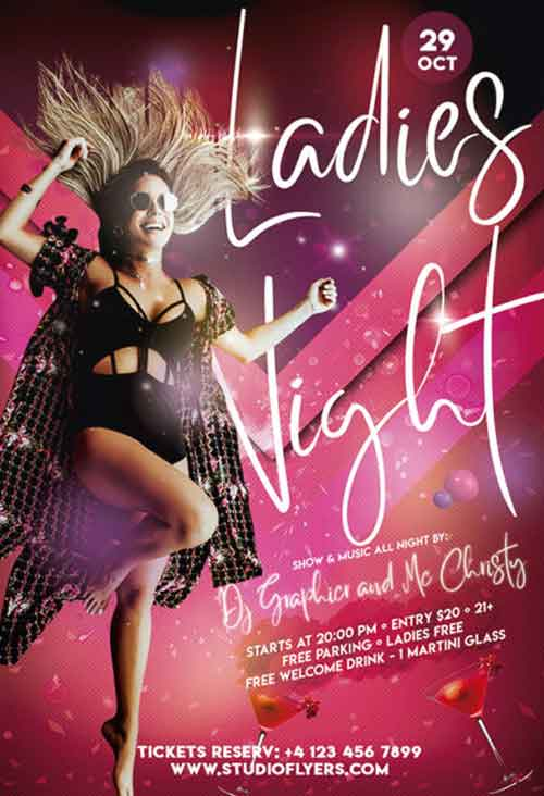 Ladies Dance Night Free Flyer Template