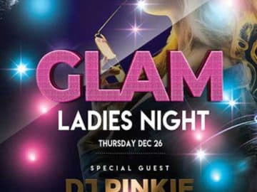 Ladies Glam Night Free Flyer PSD Template
