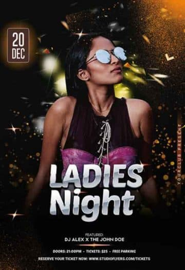 Ladies Night Event Flyer PSD Template