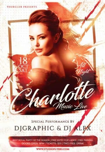 Live Music Event Free Flyer PSD Template