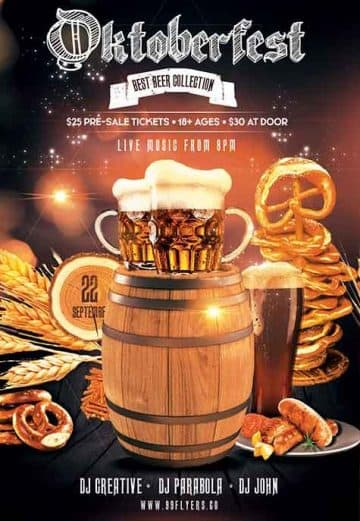 Oktoberfest Party Event Free Flyer Template