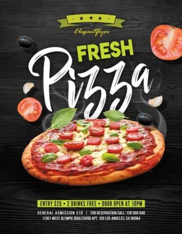 Pizza Party Free Flyer Template