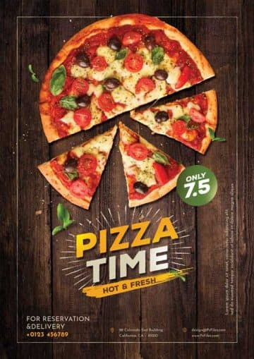Pizza Time Free Flyer Template