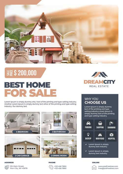 Real Estate Free Business Flyer Template
