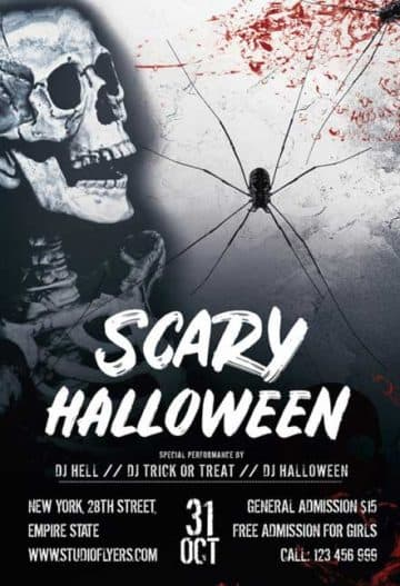 Scary Halloween Free Party Flyer Template