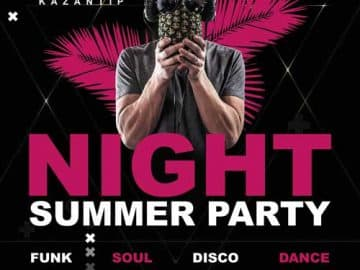 Summer Dance Party Free Flyer PSD Template