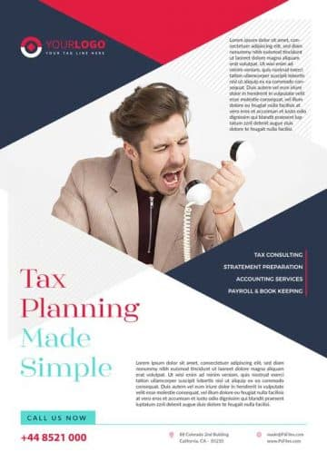 Tax Service Free Business Flyer Template