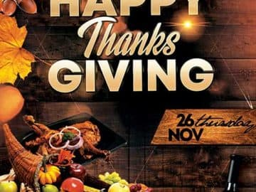 Thanksgiving Day Event Free PSD Flyer Template