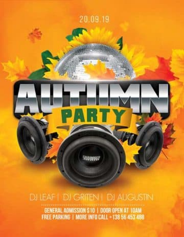 Autumn Party Night Free Flyer Template