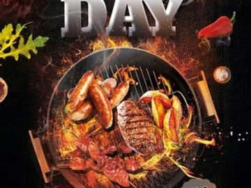 BBQ Day Party Free Flyer Template