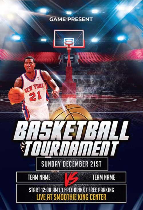 Basketball Tournament Free Flyer Template