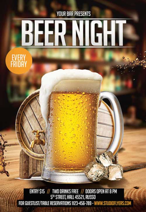Beer Night Free Flyer Template
