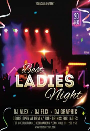 Best Ladies Night Free Flyer Template