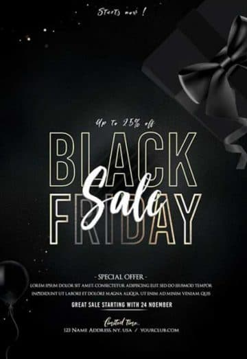Black Friday Event Free Flyer Template