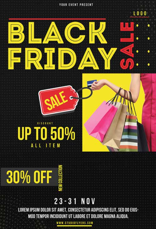 Black Friday Free Sale Flyer PSD Template