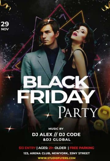 Black Friday Party Free Club Flyer Template