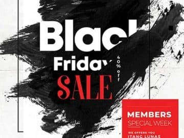 Black Friday Sale Free Event Flyer PSD Template